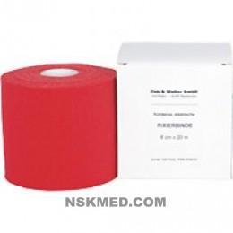 FIXIERBINDE kohäsiv elastisch 6 cm rot 1 St
