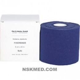 FIXIERBINDE kohäsiv elastisch 6 cm blau 1 St