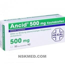 ANCID 500 mg Kautabletten 50 St