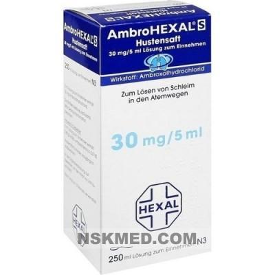 AMBROHEXAL S Hustensaft 30 mg/5 ml 250 ml