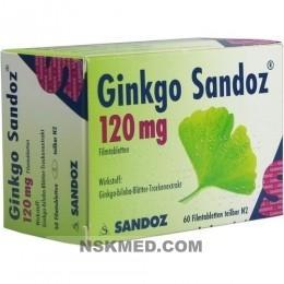 GINKGO SANDOZ 120 mg Filmtabletten 60 St
