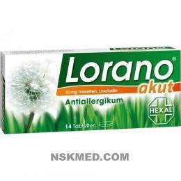 Лорано (LORANO) akut Tabletten 14 St