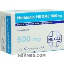 Метионин таблетки (METHIONIN HEXAL) 500 mg Filmtabletten 50 St