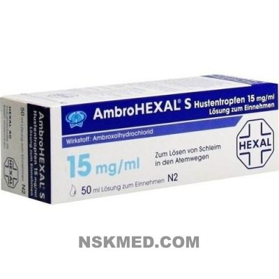 AMBROHEXAL S Hustentropfen 15 mg/ml 50 ml