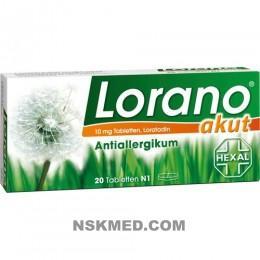 Лорано (LORANO) akut Tabletten 20 St