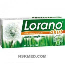 Лорано (LORANO) akut Tabletten 50 St