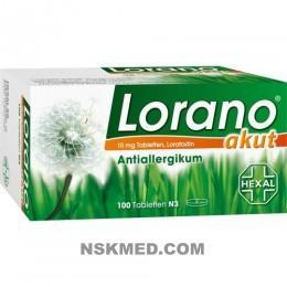 Лорано (LORANO) akut Tabletten 100 St