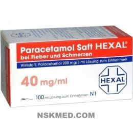 PARACETAMOL Saft HEXAL 200 mg/5 ml b.Fieb.u.Schme. 100 ml