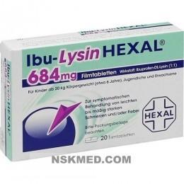 IBU LYSIN HEXAL 684 mg Filmtabletten 20 St