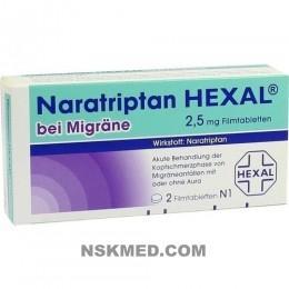 NARATRIPTAN HEXAL bei Migräne 2,5 mg Filmtabletten 2 St