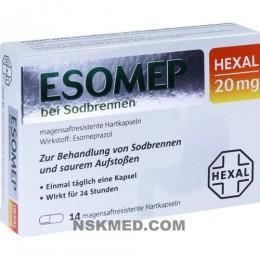 ESOMEP HEXAL bei Sodbrennen 20 mg msr.Hartkapseln 14 St