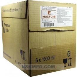 ISOTONISCHE Kochsalzlösung 0,9% Glasfl.Fresenius 6X1000 ml