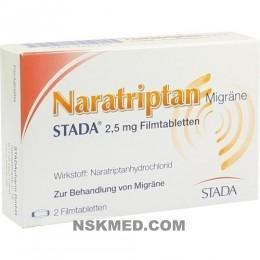 NARATRIPTAN Migräne STADA 2,5 mg Filmtabletten 2 St