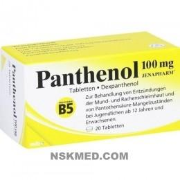 PANTHENOL 100 mg Jenapharm Tabletten 20 St