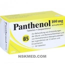 PANTHENOL 100 mg Jenapharm Tabletten 50 St