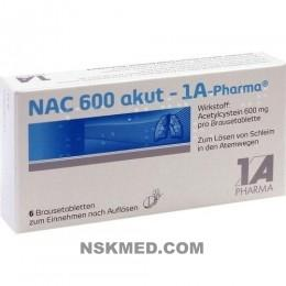 NAC 600 akut 1A Pharma Brausetabletten 6 St