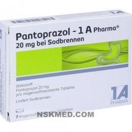 PANTOPRAZOL 1A Pharma 20mg bei Sodbrennen msr.Tab. 7 St