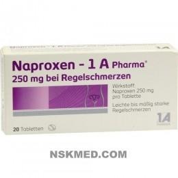 NAPROXEN 1A Pharma 250 mg b.Regelschmerzen Tabl. 20 St