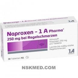 NAPROXEN 1A Pharma 250 mg b.Regelschmerzen Tabl. 30 St