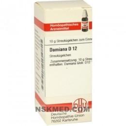 DAMIANA D 12 Globuli 10 g