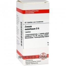 ZINCUM METALLICUM D 6 Tabletten 80 St