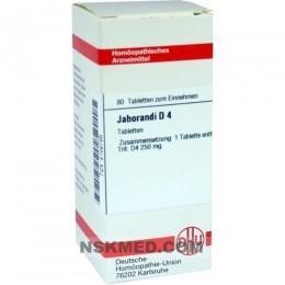 JABORANDI D 4 Tabletten 80 St