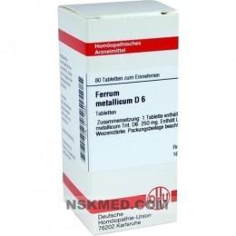 FERRUM METALLICUM D 6 Tabletten 80 St