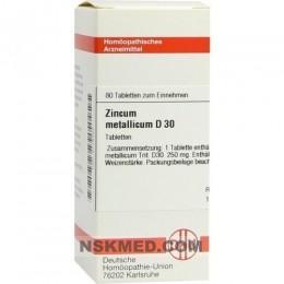 ZINCUM METALLICUM D 30 Tabletten 80 St