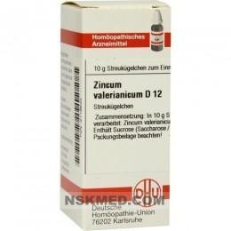 ZINCUM VALERIANICUM D 12 Globuli 10 g