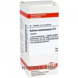 KALIUM ARSENICOSUM D 6 Tabletten 80 St