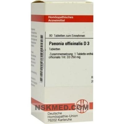 PAEONIA OFFICINALIS D 3 Tabletten 80 St