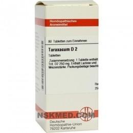 TARAXACUM D 2 Tabletten 80 St