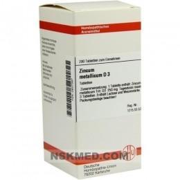 ZINCUM METALLICUM D 3 Tabletten 200 St