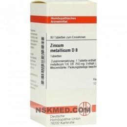ZINCUM METALLICUM D 8 Tabletten 80 St