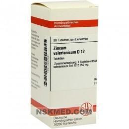 ZINCUM VALERIANICUM D 12 Tabletten 80 St