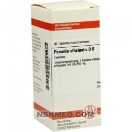 PAEONIA OFFICINALIS D 6 Tabletten 80 St