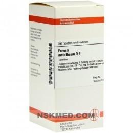 FERRUM METALLICUM D 6 Tabletten 200 St
