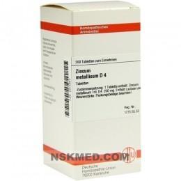 ZINCUM METALLICUM D 4 Tabletten 200 St