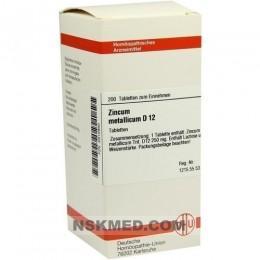 ZINCUM METALLICUM D 12 Tabletten 200 St