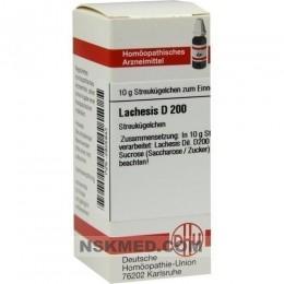 LACHESIS D 200 Globuli 10 g