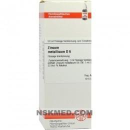 ZINCUM METALLICUM D 6 Dilution 50 ml
