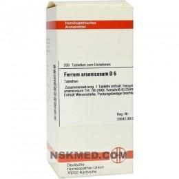 FERRUM ARSENICOSUM D 6 Tabletten 200 St
