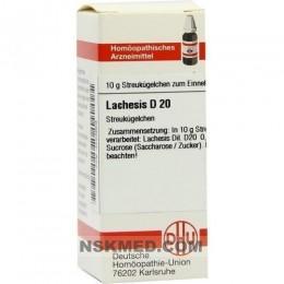 LACHESIS D 20 Globuli 10 g