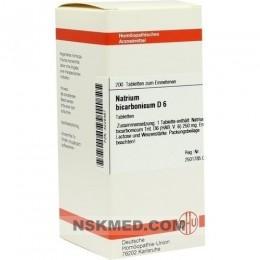 NATRIUM BICARBONICUM D 6 Tabletten 200 St