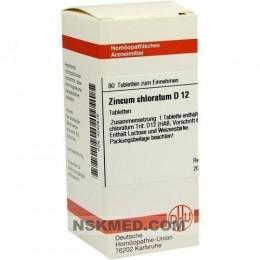 ZINCUM CHLORATUM D 12 Tabletten 80 St
