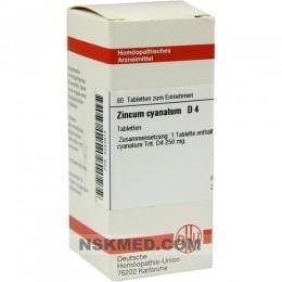 ZINCUM CYANATUM D 4 Tabletten 80 St