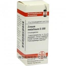 ZINCUM METALLICUM D 200 Globuli 10 g