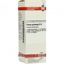 PANAX GINSENG D 6 Dilution 20 ml