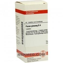 PANAX GINSENG D 4 Tabletten 80 St