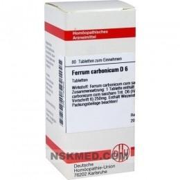 FERRUM CARBONICUM D 6 Tabletten 80 St